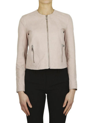 DONDUP: giacche in pelle online - Giacca girocollo crop in pelle