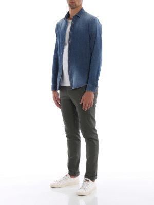 DONDUP: camicie online - Camicia in denim di cotone lavaggio medio