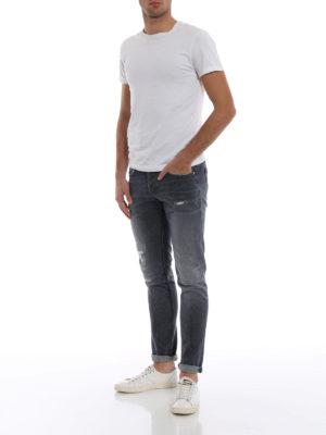DONDUP: jeans skinny online - Jeans grigi George con rotture