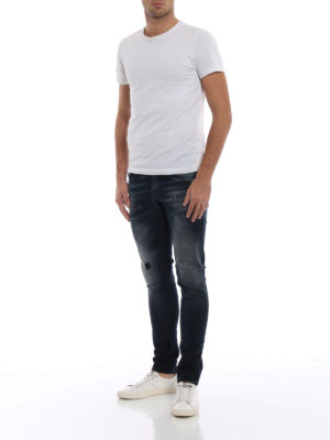 DONDUP: jeans skinny online - Jeans George tinti con strappi