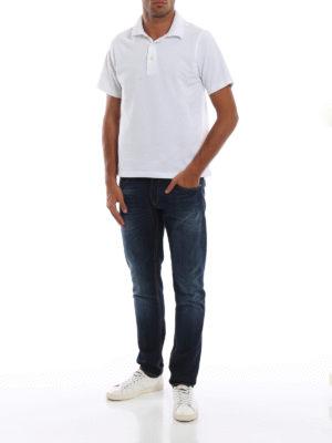 DONDUP: jeans skinny online - Jeans cinque tasche Ritchie in denim slavato
