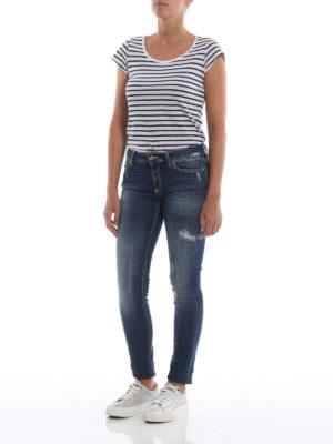 DONDUP: jeans skinny online - Jeans skinny Tara in denim rovinato