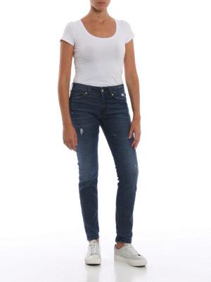 a sigaretta - Jeans stretch Gaynor Dark Wash