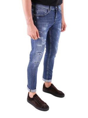 a sigaretta - Jeans a vita media dritti con strappi