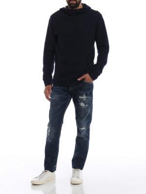 a sigaretta - Jeans slim Mius in denim con finte abrasioni
