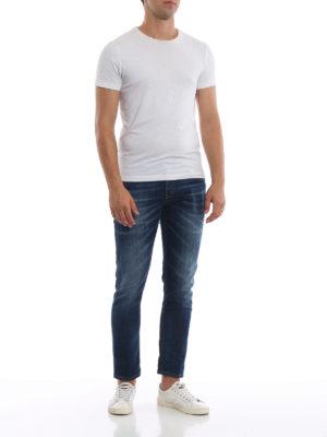 a sigaretta - Jeans slim Mius in denim slavato