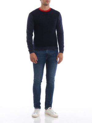 DONDUP: Felpe e maglie online - Felpa blu in misto lana e cotone