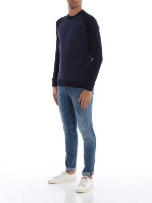 DONDUP: Felpe e maglie online - Felpa girocollo in lana e jersey di cotone