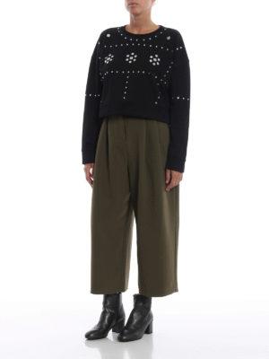 DONDUP: Felpe e maglie online - Felpa corta e larga con strass e specchietti