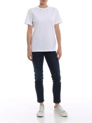 DONDUP: t-shirt online - T-shirt girocollo con borchie scintillanti
