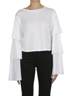 DONDUP: t-shirt online - T-shirt crop con maniche a balze