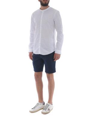 DONDUP: pantaloni shorts online - Bermuda in cotone stretch blu