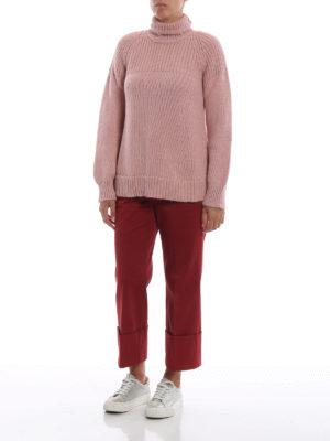 DONDUP: maglia a collo alto e polo online - Dolcevita rosa antico in misto alpaca