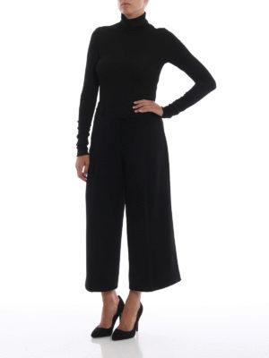 DONDUP: maglia a collo alto e polo online - Dolcevita nero a costina in lurex
