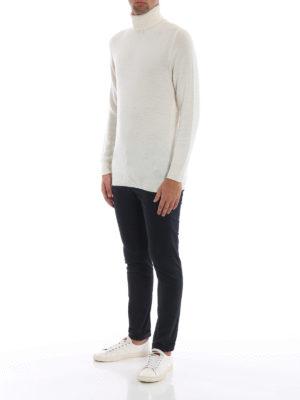 DONDUP: maglia a collo alto e polo online - Dolcevita bianca in morbida lana merino