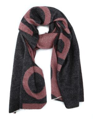 DONDUP: sciarpe e foulard - Maxi sciarpa logo lettering in misto lana