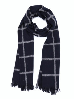 Dondup: scarves - Checked wool scarf
