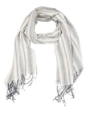 DONDUP: sciarpe e foulard - Sciarpa in tela di cotone