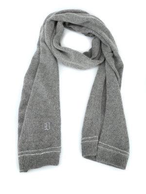 DONDUP: sciarpe e foulard - Calda sciarpa in misto alpaca con ricamo logo