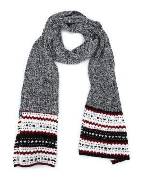 DONDUP: sciarpe e foulard - Sciarpa in misto lana specchietti decorativi