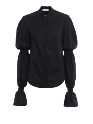 Dondup: shirts - Devaney gathered long sleeves shirt