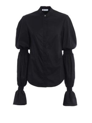 Dondup: shirts - Devaney gathered long sleeves shirt