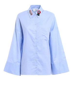 Dondup: shirts - Flared sleeved Oxford shirt