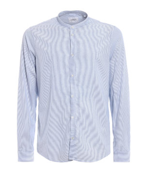 Dondup: shirts - Guru Piping stripe cotton shirt