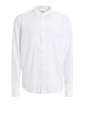 DONDUP: shirts - Mandarin collar cotton shirt
