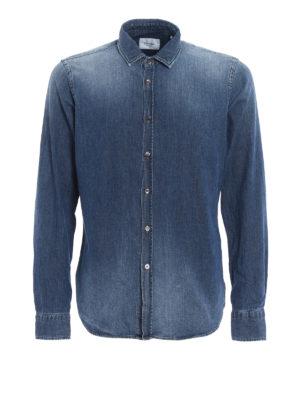 DONDUP: camicie - Camicia in denim di cotone lavaggio medio