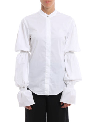 Dondup: shirts online - Devaney gathered long sleeves shirt