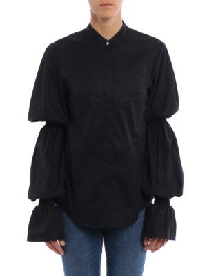 Dondup: shirts online - Devaney gathered long sleeves shirt