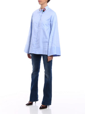 Dondup: shirts online - Flared sleeved Oxford shirt