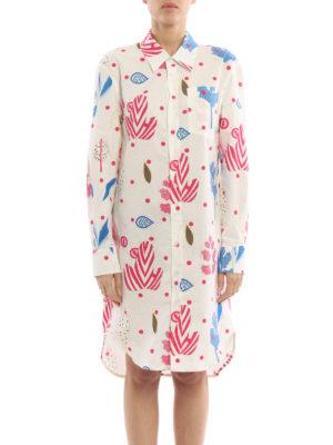 Dondup: shirts online - Gnosia printed tunic shirt