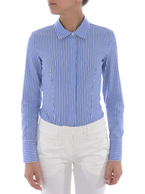 Dondup: shirts online - Race Body striped poplin shirt