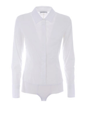 Dondup: shirts - Race Body poplin cotton shirt