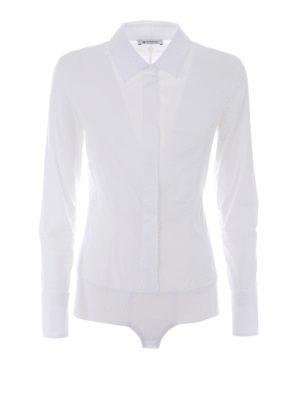 Dondup: shirts - Race Body poplin cotton shirt