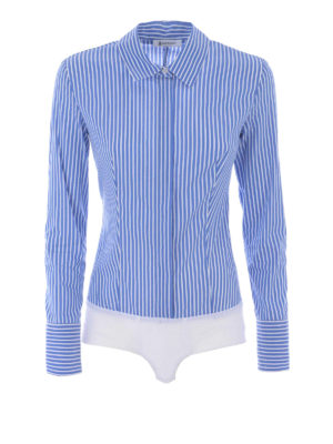 Dondup: shirts - Race Body striped poplin shirt