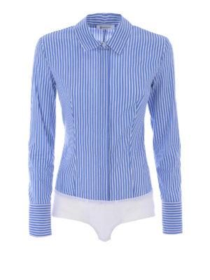 Dondup: shirts - Race Body striped poplin shirt