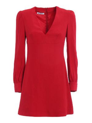 Dondup: short dresses - Alesana crepe cady short dress