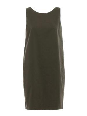 Dondup: short dresses - Cotton canvas embellished dress