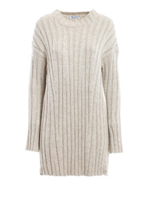 Dondup: short dresses - Drilled lurex knitted dress