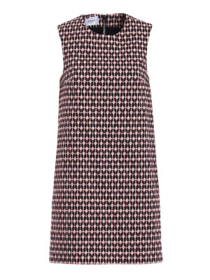 Dondup: short dresses - Hearts pattern cotton sheath dress