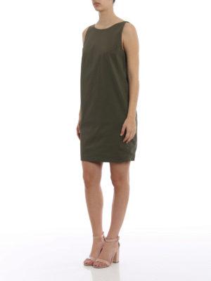Dondup: short dresses online - Cotton canvas embellished dress