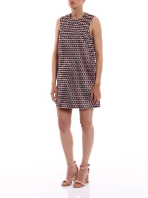 Dondup: short dresses online - Hearts pattern cotton sheath dress
