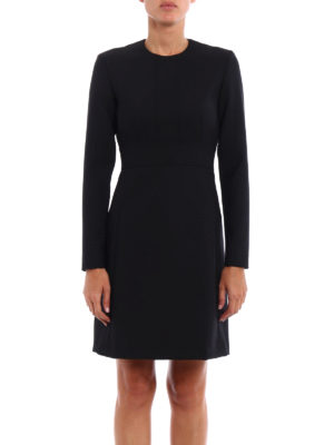 Dondup: short dresses online - Shakes wool blend fitted dress