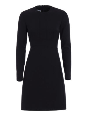 Dondup: short dresses - Shakes wool blend fitted dress