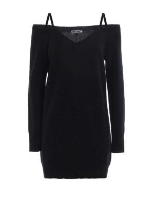 Dondup: short dresses - Wool and cashmere short dress