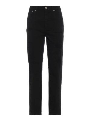 DONDUP: jeans skinny - Jeans skinny Anya in denim effetto used