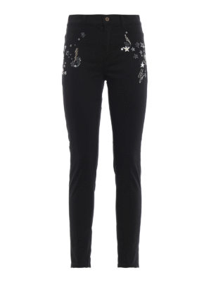 DONDUP: jeans skinny - Jeans super skinny Appetite con applicazioni